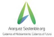 """Logo de Aranjuez Sostenible.org con el lema """"Cuidamos el Medioambiente, Cuidamos el Futuro"""""""