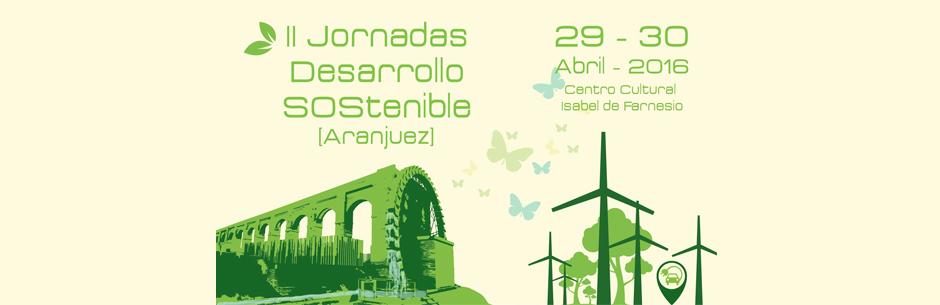 Cabecera para las II Jornadas Desarrollo Sostenible Aranjuez