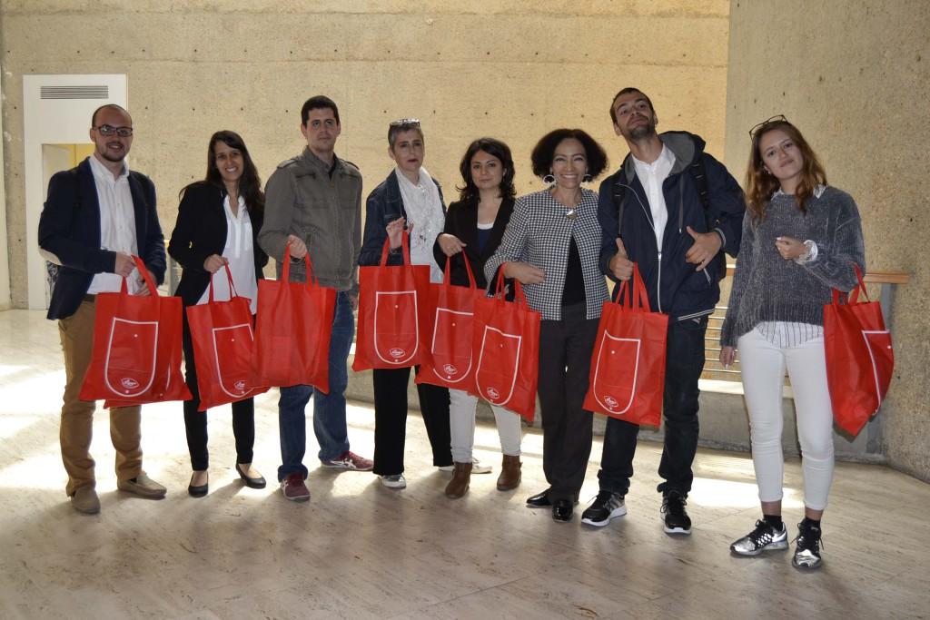 Organizadores y colaboradores al final de las Jornadas